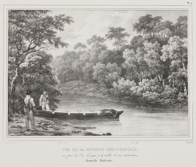 Vue de la Riviere des Francais au Port du Roi Georges a 4 milles de son embouchure (Nouvelle Hollande); 1833; 1974/0Q78