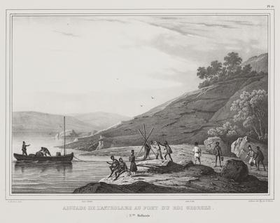 Aiguade de l'Astrolabe au Port du Roi Georges (N'elle Hollande); 1833; 1974/0Q79