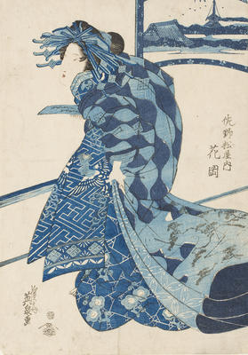 The courtesan `Hanaoka' of the tea-house Sanomatsu-Ya