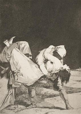 Que se la llevaron! [They carried her off!] from 'Los caprichos'