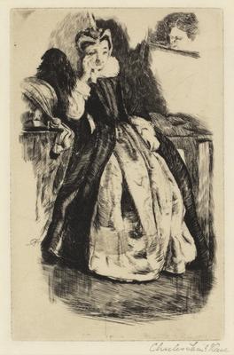 Lady in Elizabethan dress