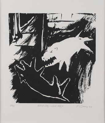 Black dog - white dog II; 1989; 1991/0283