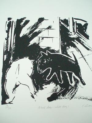 Black dog - white dog 1; 1989; 1991/0282