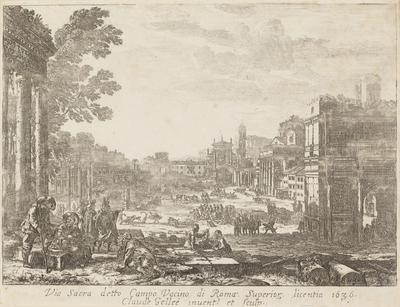 Via Sacra Detto Campo Vacino Di Roma Superior Licentia 1636