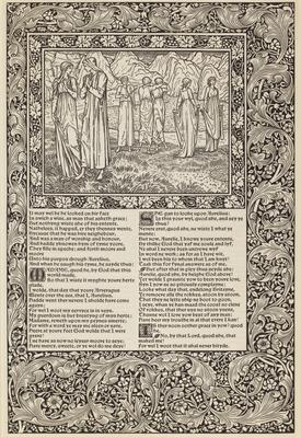 """Proof Leaf (4 pages) from """"The Works of Geoffrey Chaucer"""",1896. - """"The Frankeleyns Tale"""" and """"The Nonnes Tale"""""""