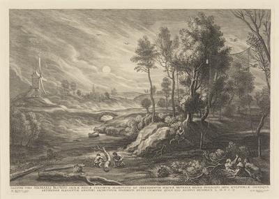 Landscape with a bird-catcher; from the Small Landscapes series; 1804; 1947/0Q14