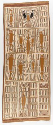 The artist's clan design associated with Djanggawul myth at Arnhem Bay