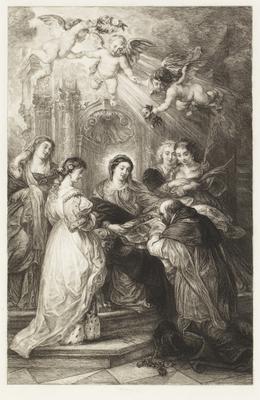 Adoration of the virgin; 1574; 1955/0Q26