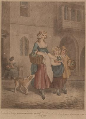 """Two bunches a penny Primrose, two bunches a penny (from the series """"The cries of London""""); c 1785-c 1810; 1976/0Q64"""