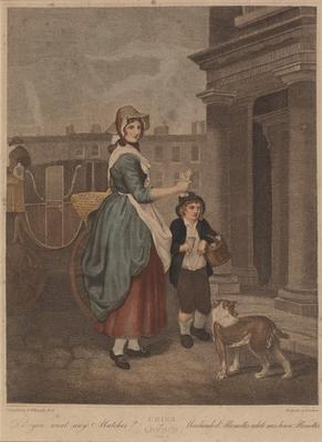 """You want any matches? (from the series """"The cries of London""""); c 1792-c 1813; 1976/0Q67"""