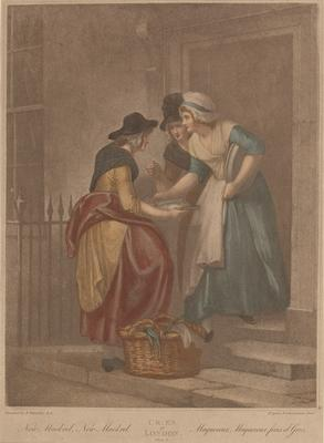 """New Mackrel, new Mackrel (from the series """"The cries of London""""); c 1791-c 1813; 1976/0Q68"""