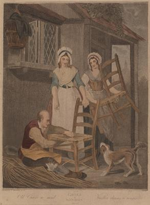 """Old Chairs to mend (from the series """"The cries of London""""); c 1789-c 1839; 1976/0Q73"""