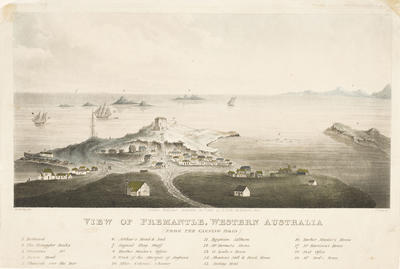 View of Fremantle, Western Australia (from the Canning Road); 1832; 1961/0Q27