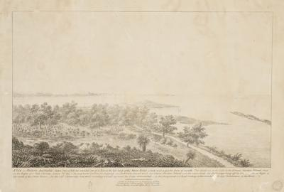 A view of Western Australia, taken from a hill, the intended site of a fort, on the left bank of the Swan River a mile and a quarter from its mouth