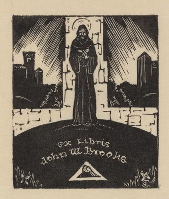 Ex Libris for John W. Brooks