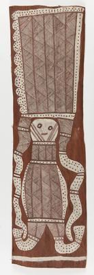 Wangarra and Larrkan - spirit being and burial log