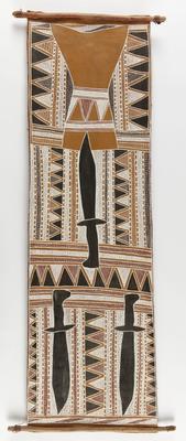 Macassan swords and cloud pattern