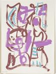 Untitled (Pink, purple and turquoise)