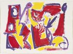 Untitled (Red, purple and yellow)